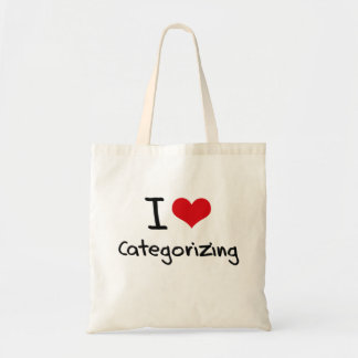 I love Categorizing Tote Bag