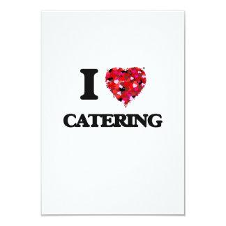 I love Catering 3.5x5 Paper Invitation Card