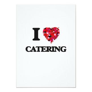 I love Catering 5x7 Paper Invitation Card