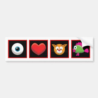 I Love Catfish Bumper Sticker