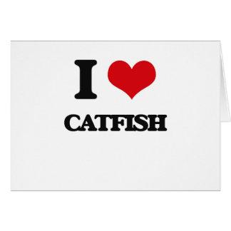 I love Catfish Greeting Card