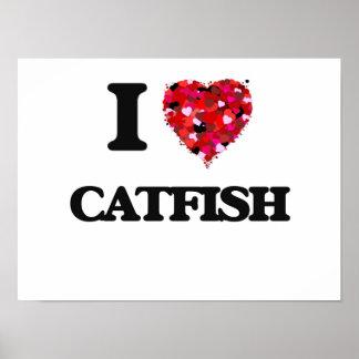 I Love Catfish food design Poster