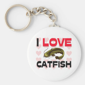 I Love Catfish Key Chain