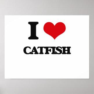 I Love Catfish Poster
