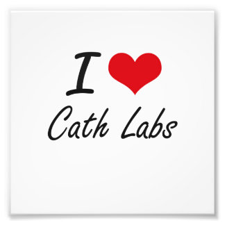 I love Cath Labs Artistic Design Photo Print