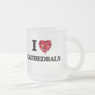 I love Cathedrals 10 Oz Frosted Glass Coffee Mug