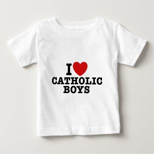I Love Catholic Boys Baby T-Shirt