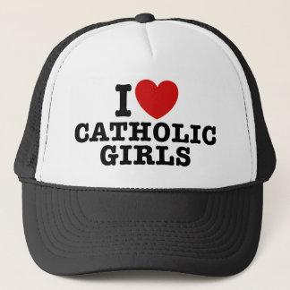 I Love Catholic Girls Trucker Hat