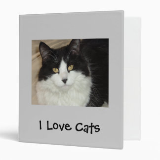 I Love Cats 3 Ring Binder