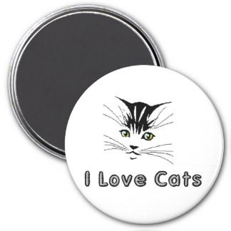i love cats 5 i love cats 5 kitten with yellow eye 3 inch round magnet