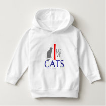 I Love Cats Animals by VIMAGO Hoodie