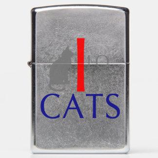 I Love Cats Animals by VIMAGO Zippo Lighter