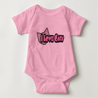 I Love Cats Baby Clothes Baby Bodysuit