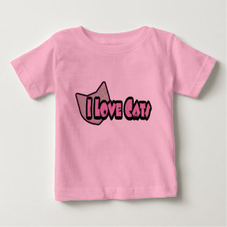 I Love Cats Baby Clothes Baby T-Shirt
