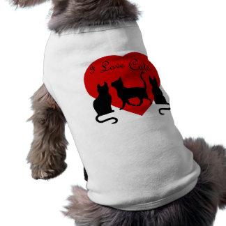 I love Cats, big heart T-Shirt