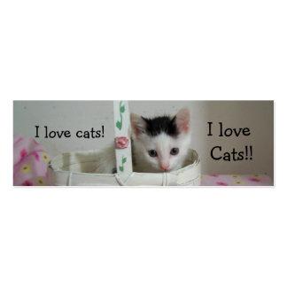 I love Cats Bookmark! Mini Business Card