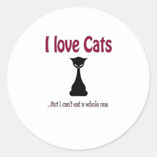 I love cats but.... classic round sticker