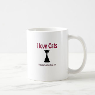 I love cats but.... coffee mug