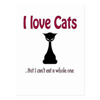 I love cats but.... postcard