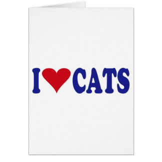 I Love Cats Greeting Cards