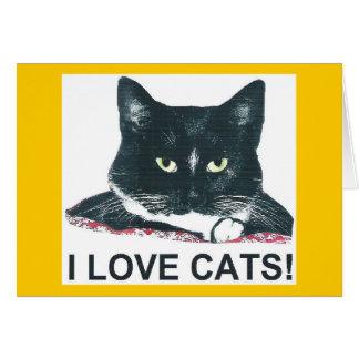I LOVE CATS! CARD