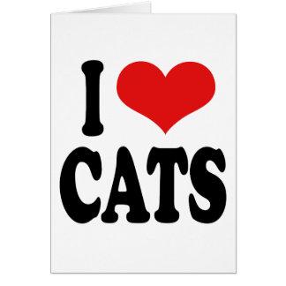 I Love Cats Card