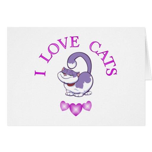I Love Cats Cards