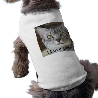 I Love Cats - Cat sticking tongue out Tee