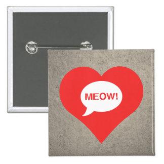 I Love Cats Cool Icon 2 Inch Square Button