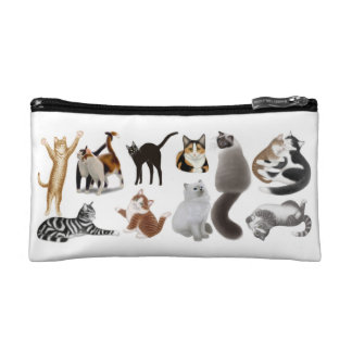 I Love Cats Cosmetic Bag