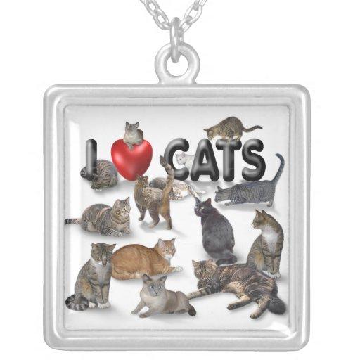 I love Cats Custom Necklace