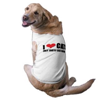 I Love Cats Dog Shirt