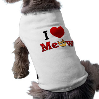 I Love Cats Dog T Shirt - I Heart Cats