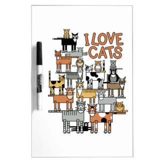 I LOVE CATS Dry-Erase BOARD