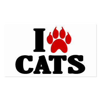 I Love Cats Emblem Double-Sided Standard Business Cards (Pack Of 100)