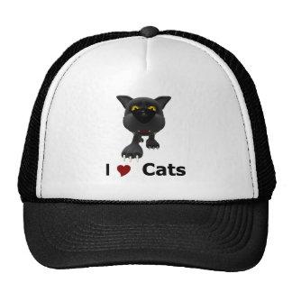 I Love Cats Mesh Hats