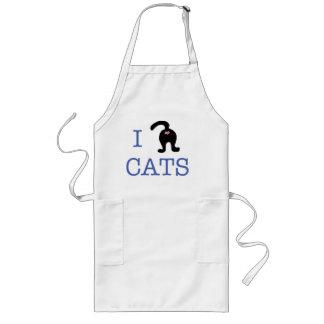 I love Cats Heart Kitchen Apron Humor