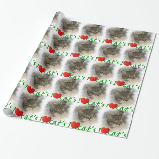 I love cats I dear cats Wrapping Paper