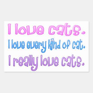 I love cats. I really love cats. Sticker