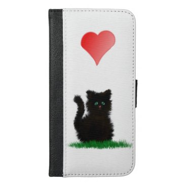 I love cats iPhone 6/6s plus wallet case