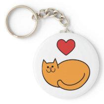 I love cats keychain