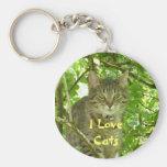 I love Cats Keyring Keychain