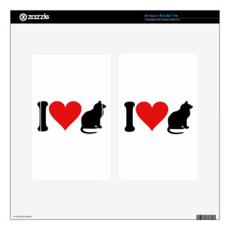 I Love Cats * Kindle Fire Decal