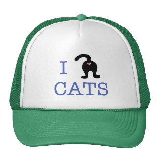 I Love Cats Kitty Butt Hat Humor Trucker Hat