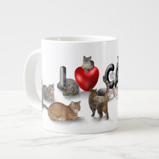 I love Cats Large Coffee Mug