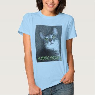 I Love Cats/Meow! Tee Shirt
