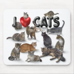 I love Cats Mouse Mats