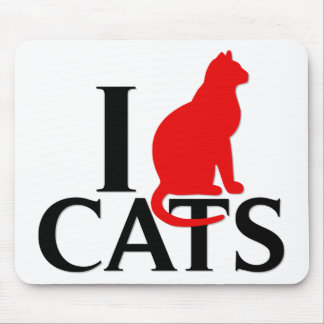 I Love Cats Mouse Pad