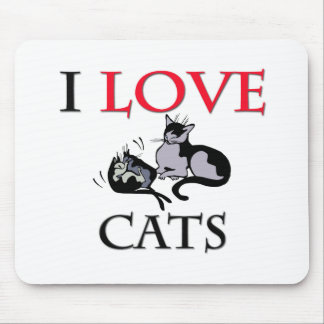 I Love Cats Mouse Pads