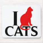 I Love Cats Mousepads